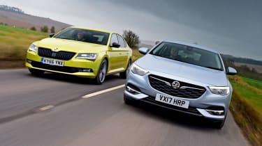Vauxhall Insignia Grand Sport vs Skoda Superb - tracking