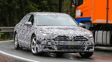 New Audi A8 spies front side