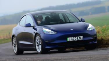 Tesla Model 3 Long Range - front cornering