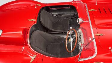 1957 Ferrari 335 cockpit - most expensive cars