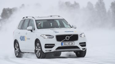 Winter testing in Arjeplog - XC90 testing