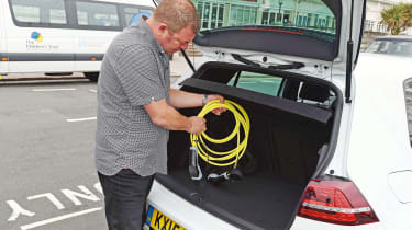 VW Golf GTE - charging cables