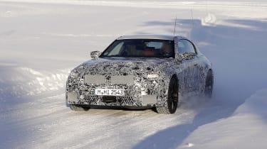 2022 BMW M2 spy - front