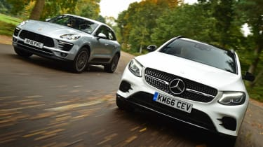 Mercedes GLC 43 vs Porsche Macan S - header