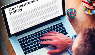 Car insurance policy laptop