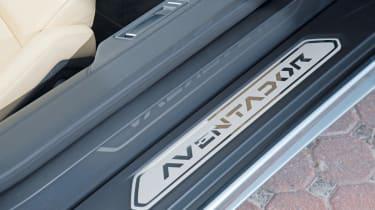 Lamborghini Aventador Roadster door sill