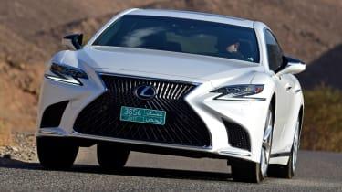 Lexus LS 500h 2018 review - front grille