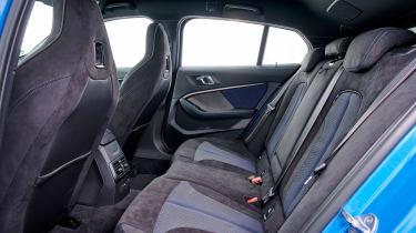 BMW M135i 2019 rear seats