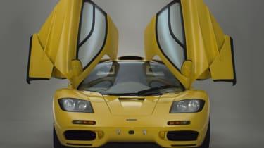 McLaren F1 Yellow front with doors open