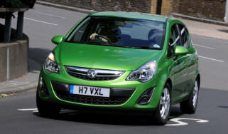 Vauxhall Corsa front cornering