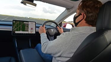 Thatcham road safety tech test - driving