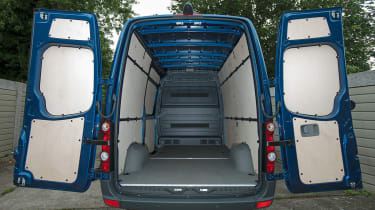 Volkswagen offer the Crafter with four wheelbases, four body lengths and three roof heights.