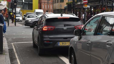 Eco driving tips - Kia e-Niro - rear static traffic