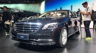 New Mercedes S-Class shanghai front quarter