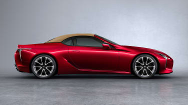 Lexus LC Convertible - side red roof up