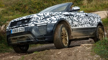 Range Rover Evoque Convertible passenger ride off-roading