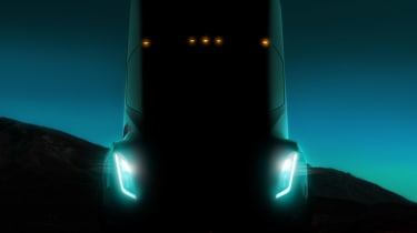Tesla lorry - electric truck revealed - teaser image front