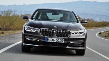 New 2015 BMW 7-Series front moving
