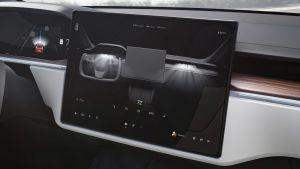 Tesla Model S facelift - screen