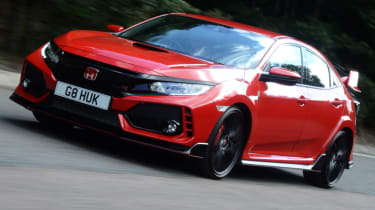 UK Honda Civic Type R 2017 - front action