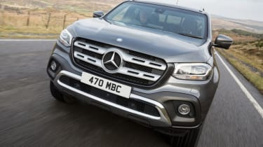 Mercedes X-Class review - front grey