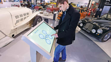 British Motor Museum - touchscreen