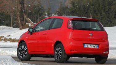 Fiat Punto TwinAir rear cornering