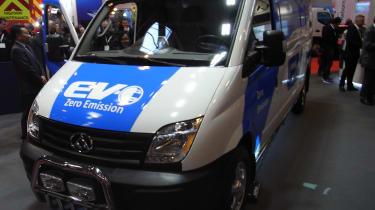 LDV EV80 CV Show - front three quarter