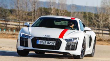 Audi R8 RWS - front cornering