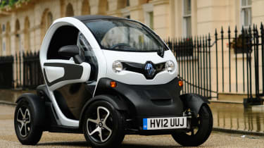 The Renault Twizy technically isn't a car at all - it's a 'heavy quadricycle'.