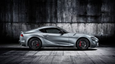 Toyota Supra - grey side