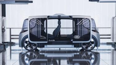 Jaguar Land Rover Project Vector - side doors open