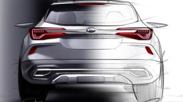 Kia small SUV - rear teaser