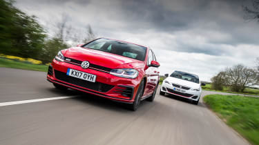Volkswagen Golf GTI vs Peugeot 308 GTI - head-to-head