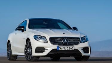 Mercedes E-Class Coupe - AMG Line front quarter