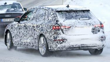 Audi A3 spies - winter rear 3/4