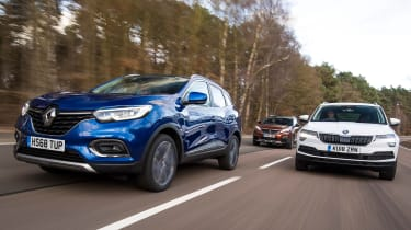 renault kadjar vs skoda karoq vs peugeot 3008 group test header
