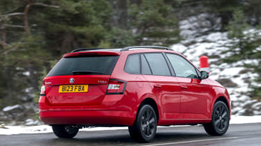 The Fabia estate's styling is more purposeful than pretty.