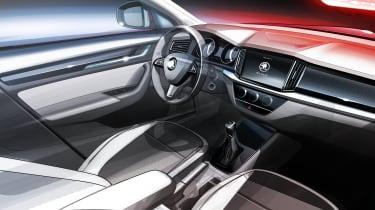 Skoda Kamiq SUV sketch - interior