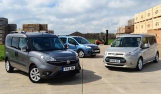 Fiat Doblo vs Citroen Berlingo vs Ford Tourneo Connect - header