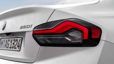 BMW 220i - rear lights