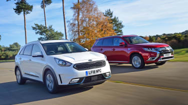 Kia Niro Plug-in Hybrid vs Mitsubishi Outlander PHEV - head-to-head