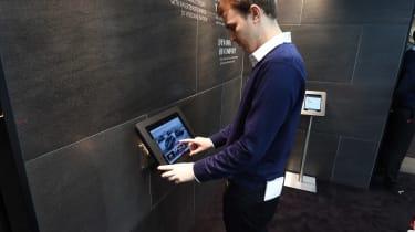 DS Westfield store - Joe Finnerty touchscreen