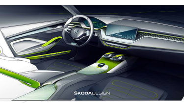 Skoda Vision X sketch - interior