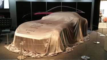 TVR sport car cover - London Motor Show