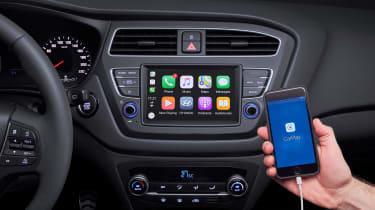 Hyundai i20 facelift - Apple CarPlay