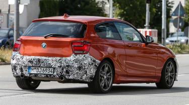 BMW 1-Series facelift spy shots - rear