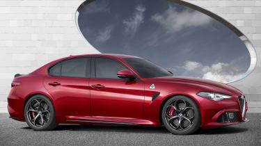 Alfa Romeo Giulia - side on