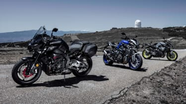 Yamaha MT-10 review - three bikes