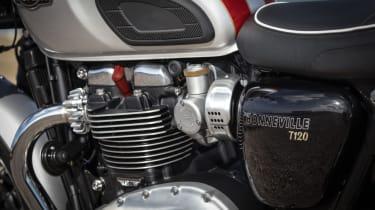 Triumph Bonneville T120 review - white engine
